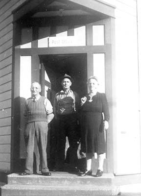 George Wass Frank Crothers Mrs. Wass 1950